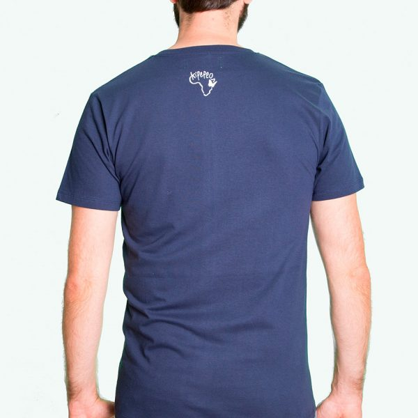 Fair trade Shirt Stuttgart Bio Made in Tanzania Hippo navy 2