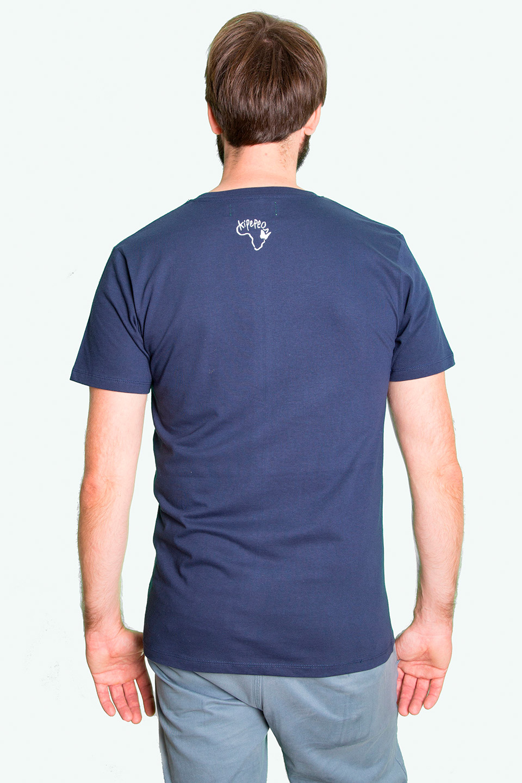 Fair trade Shirt Stuttgart Bio Made in Tanzania Hippo navy 2