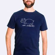 Fair trade Shirt Stuttgart Bio Made in Tanzania Hippo navy 3