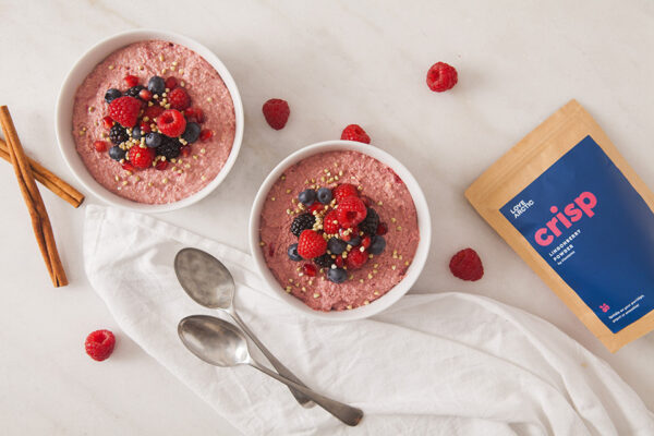 crisp - lingonberry powder on white