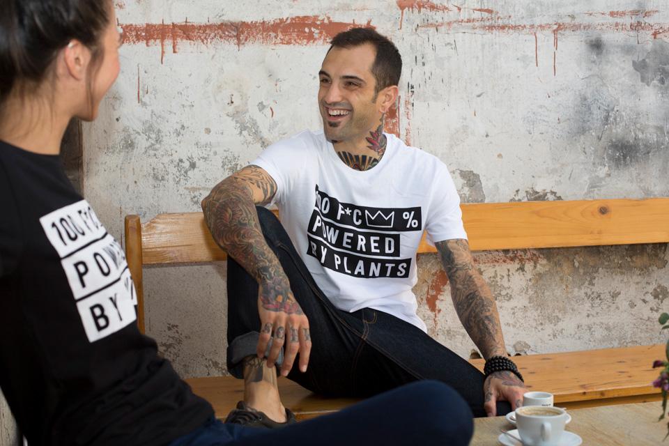 Bazaar-Deluxe-TShirt Rolled Up Sleeves DharmaDoo