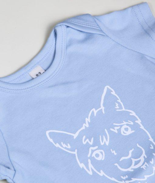 Kurzarm Body blau Eco Baby