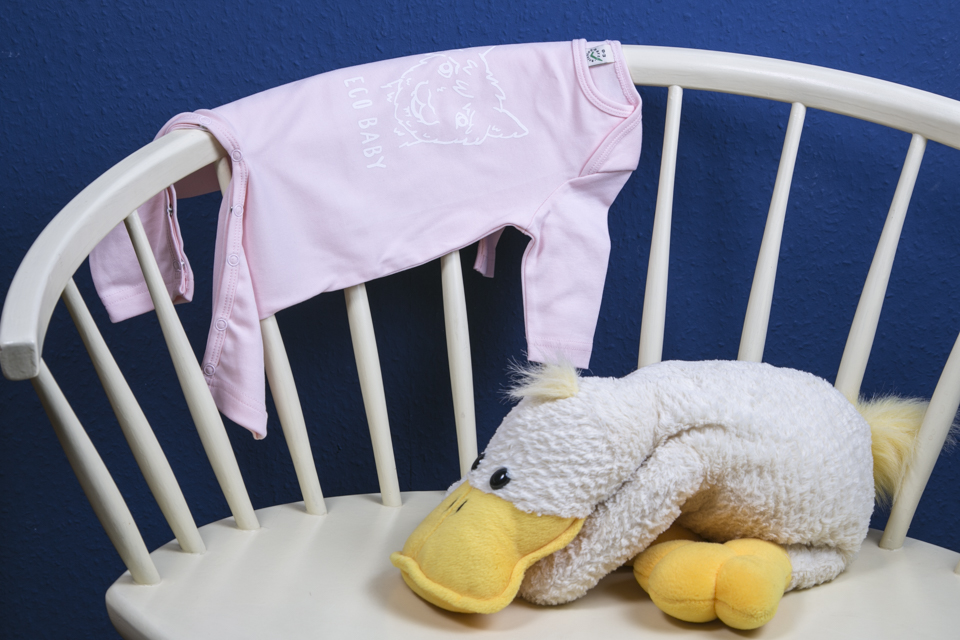 Langarm Body rosa Eco Baby