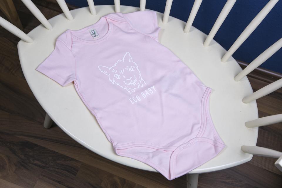 Kurzarm Body rosa Eco Baby