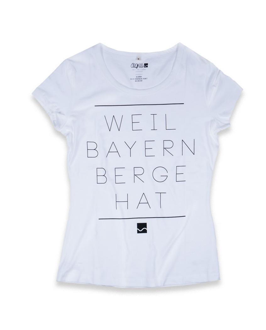Shirter | Weil Bayern Berge | weiss - Degree Clothing