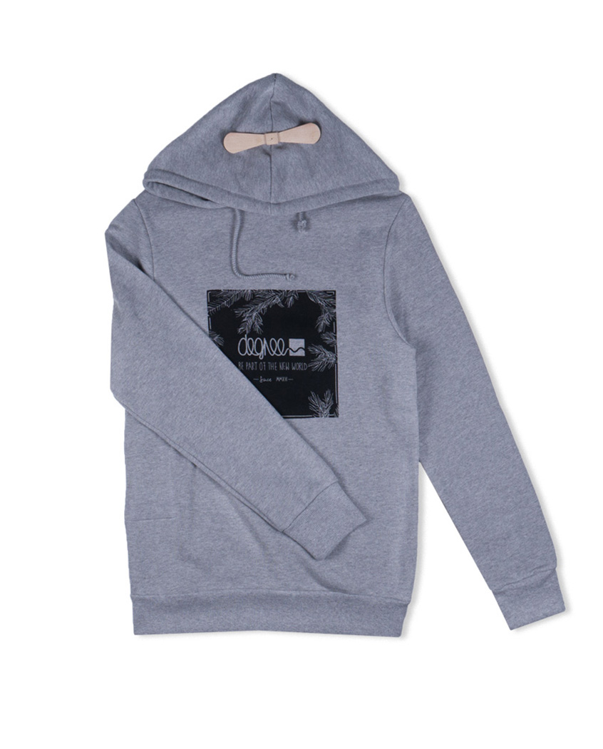 Hoodie | Helicopter Tanner | grau   - Degree Clothing